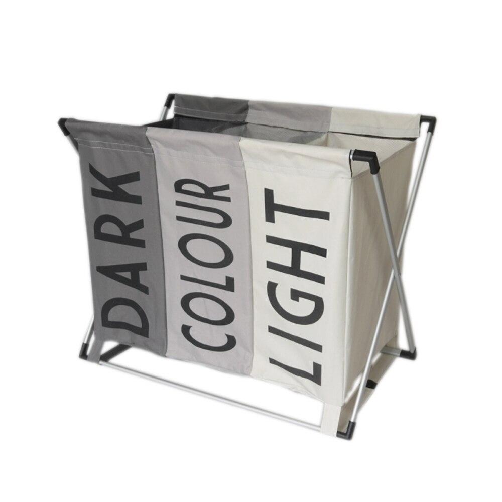 CHOUCHI sale vêtements organisateur trois-compartiment panier pliable grand panier à linge de stockage étanche panier à linge