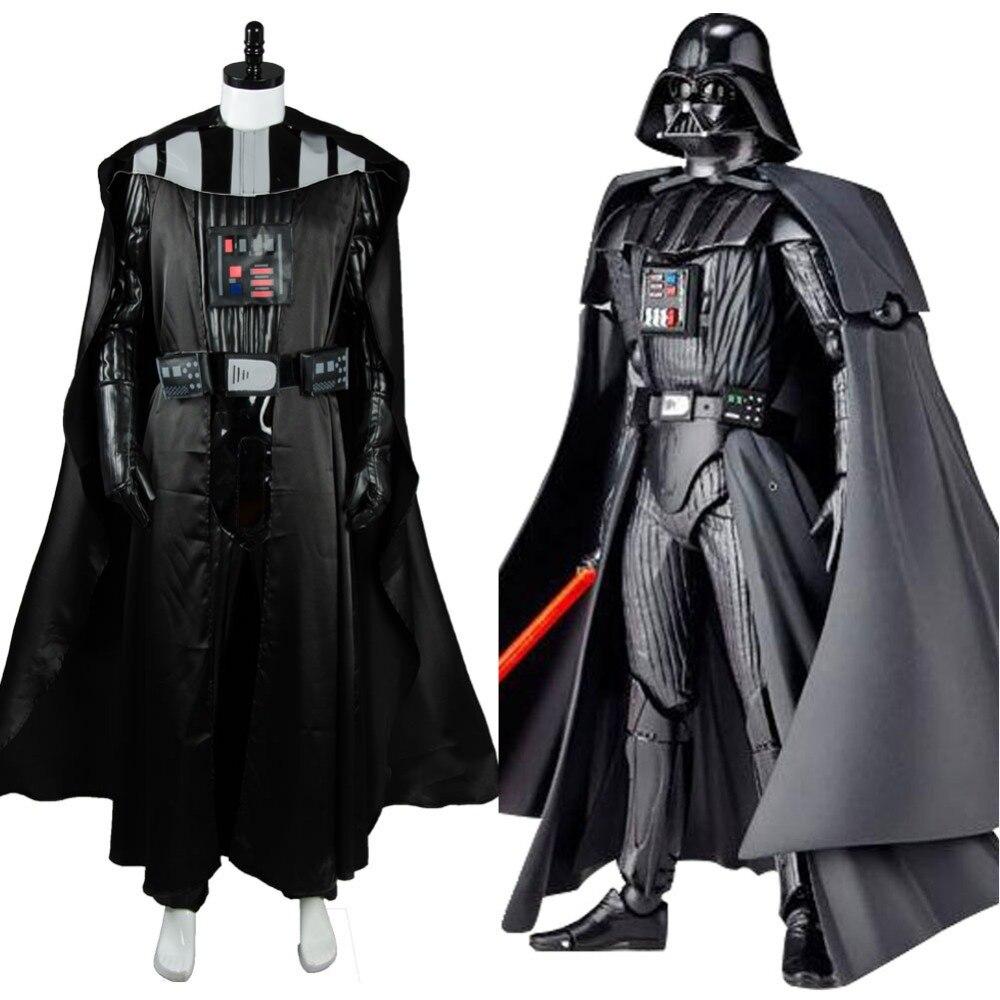 Nouvelle arrivée STAR WARS Foncé Seigneur Darth Vader Carnaval Costume Adulte Hommes Cosplay Veste Manteau Gant Ensemble Complet