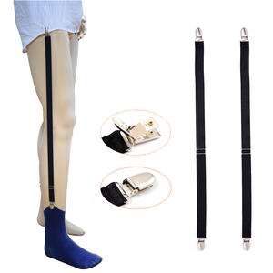 1 Pair New arrival Black Men's Shirt Stays Garters Elastic Polyester Adjustable Shirt Holder Sock Suspenders tirantes hombre