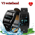 Последним спорт smart watch для Android ios V3 bluetooth браслет браслет поддержка сердечного ритма монитор кислорода в Крови мужчины женщины
