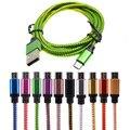 25 cm/1 m/2 m/3 m cabo micro usb carregador de sincronização de dados cabo de nylon usb para android telefone inteligente para tablet pc