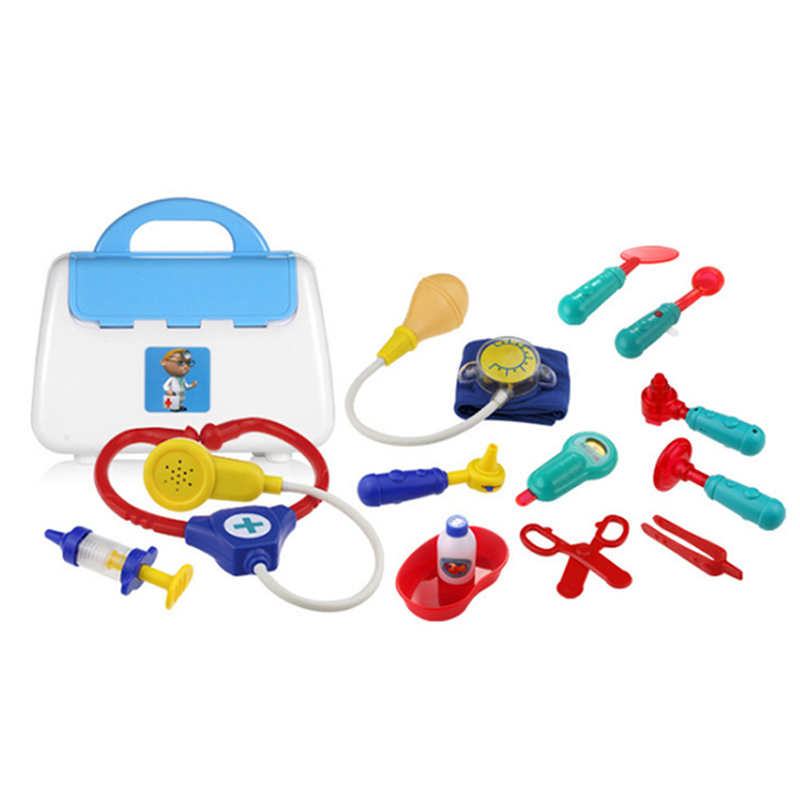 Funny Toys Doctor Play Portable Box Sets Simulation Medicine Box Pretent Doctor Toys Stethoscope Injections Children Gifts