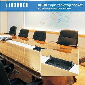 Image 5 - JOHO מברשת פתוח סוג שולחן שקע אלומיניום סגסוגת האיחוד האירופי תקע רב פונקצית USB HDMI VGA ממשק BS 102