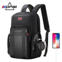 BOPAI рюкзак мужской USB Anti theft бизнес рюкзак для 15,6 дюймов ноутбук рюкзак черный рюкзак школьный рюкзак дышащий назад