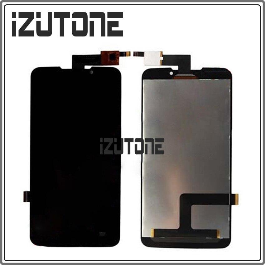 100% garantie schwarz LCD Display mit Touch digitizer montage für ZTE Grand-memo N5 U5 N9520 V9815 durch freies verschiffen