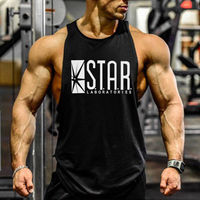 The Flash Print Cotton Tank Tops Fashion Star Men Gym Vest Bodybuilding Clothing And Fitness Undershirt