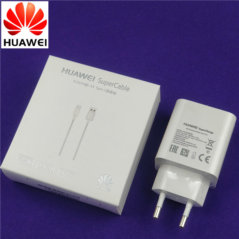 original huawei p20 pro Charger mate 10 lite 5v=4.5A 4.5V=5A Supercharge Power Adapter Supercable cable for p10 mate 9 honor v10