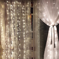 Led Icicle Curtain Lights Christmas Lamp Wedding String Lights for Home Decor With Memory Function Controller lights new year