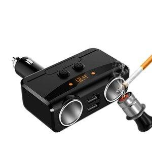 12-24V encendedor de cigarrillos Universal Auto Sigarettenaansteker Dual USB LED cargador adaptador 3.1A 80W cargador divisor