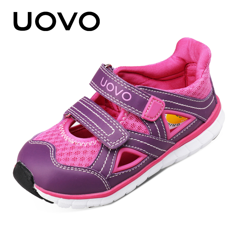 UOVO 2017 Summer Children Shoes Boys & Girls Sandals Fashion Beach Shoes Outdoor Breathable Casual For Baby Child Size 27-33 uovo 2016 outdoor nonslip boys shoes kids breathable baby children shoes girls shoes tenis infantil chaussure fille size 26 35