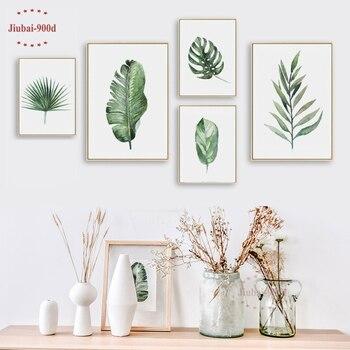 900d Nordic Feder Leinwand Malerei Poster Grun Pflanzen Wand Bilder