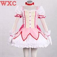Anime Puella Magi Madoka Magica Kaname Madoka Cosplay Actress Costume Dresses Customize Halloween Party WXC