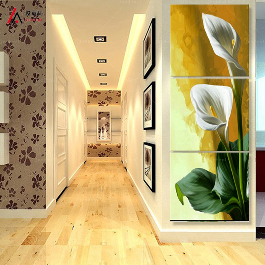 Fallout Vertical Forms 3 Panel Modern Calla Flower Painting Picture ...