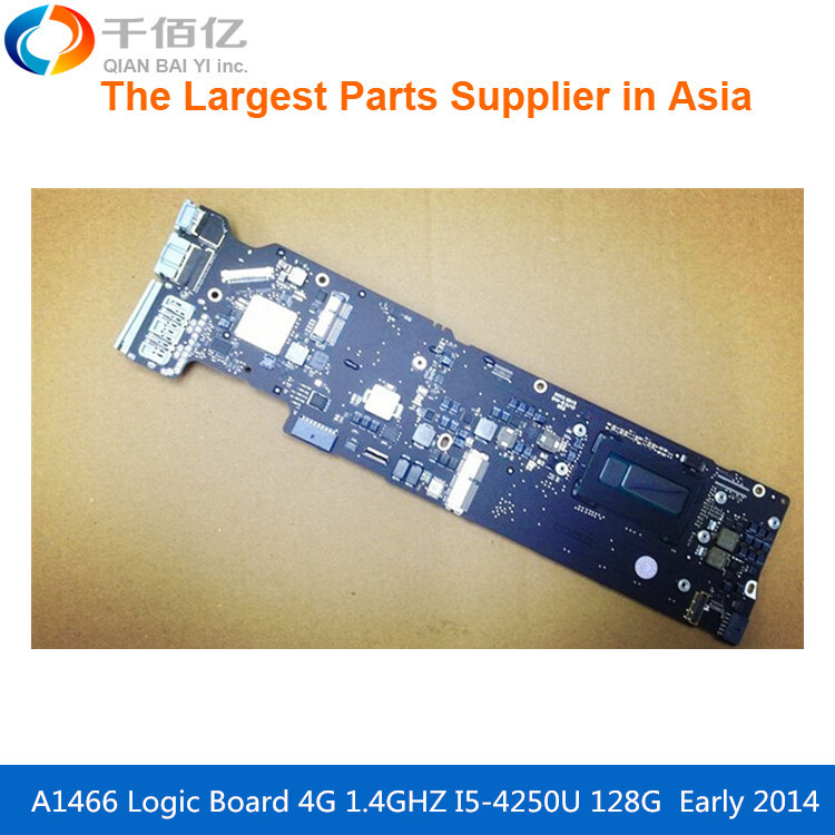 Laptop Motherboard A1466 Logic board For MacBook Air 1.6 GHZ EMC2925 I5 5650U 4G Early 2015