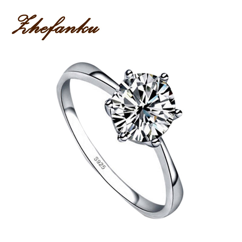 New Fashion High Imitation  Silver Plated  Ring Wedding Ring 4 Sizes RING-0254(China)
