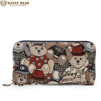 DANNY BEAR Original Design Women Wallets Female Casual Canvas Coin Purses Card Houlders Fresh Style Clutch