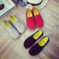Круглый Носок Одной Обуви Женщины Квартиры скольжения на женской обуви мокасины 2016 новый весна Осень повседневная рабочая обувь женские женские квартиры
