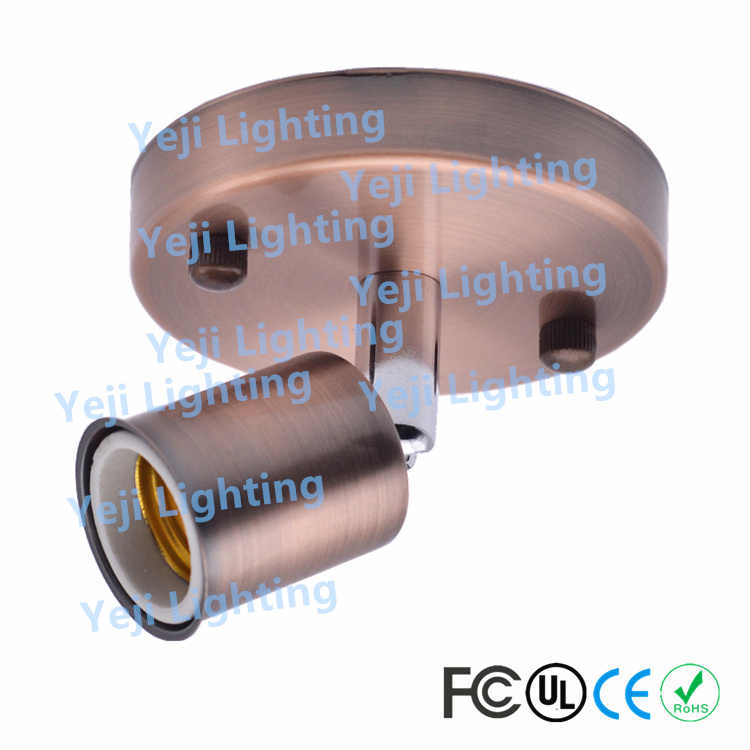 AC110-250V E27 / E26 Socket ceramic holder Edison vintage Ceiling canopy ceiling light Wall Lamp led Bulb lighting accessories