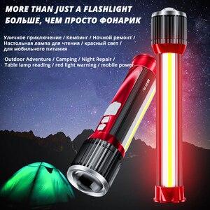 Image 5 - Новинка, светодиодный светильник вспышка, вращающийся телескопический зум, светодиодный фонарь, боковой светильник, перезаряжаемый кемпинговый светильник, прожектор, может заряжать телефон