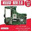 Top qualität Laptop Motherboard für ASUS N55SF N55SL N55S REV 2 0 60 N5FMB3600B03 HM65 DDR3 voll Getestet verschiffen off Mainboard-in Motherboards aus Computer und Büro bei