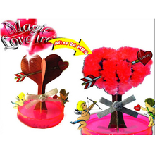 Visual 2019 7x7cm DIY Red Big Magic Growing Paper Love Tree Kit Magically Cherry Trees Hot Christmas Kids Toys For Children 2PCS