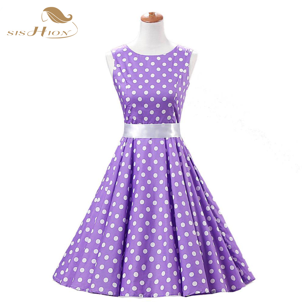 Popular Purple Polka Dot Dress-Buy Cheap Purple Polka Dot Dress ...