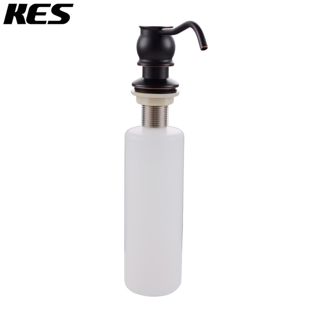 Kes Lotion Soap Dispenser With Br Pump And Pp Bottle Oil Rubbed Bronze