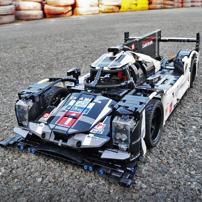 CaDA Buliding voiture blocs voitures CADA Technic formule 1 voiture de course modèle lepin Bugattied Chiron bricolage RC bloc de construction jouet voitures cadeau