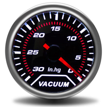 """"""" 52 мм Универсальный Автомобильный вакуумный манометр-30~ 0 дюймов. Hg метр Авто белый светодиодный указатель манометры вакуумные широкополосные воздушный расход топлива boost"""