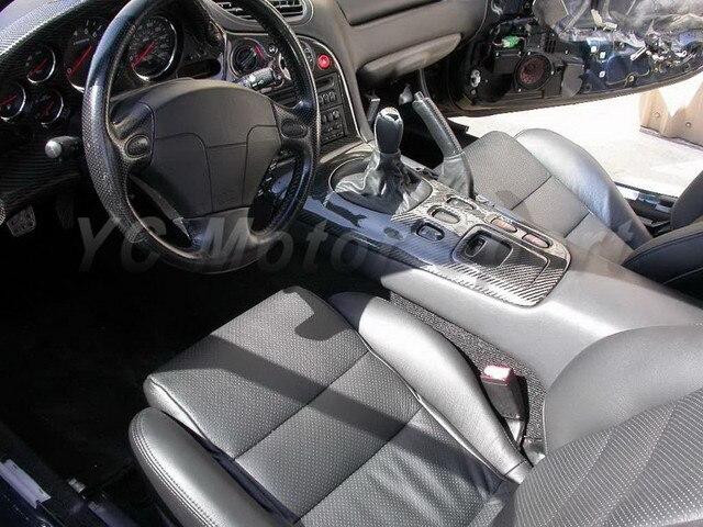 Carbon Fiber Matte Finish Interior Replacement Kit 4pcs Fit For 1992 1997  RX7 FD3S LHD