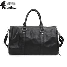Мужская спортивная сумка, сумки через плечо для мужчин и женщин, сумки для спортзала для женщин, водонепроницаемая сумка из искусственной кожи, спортивная сумка