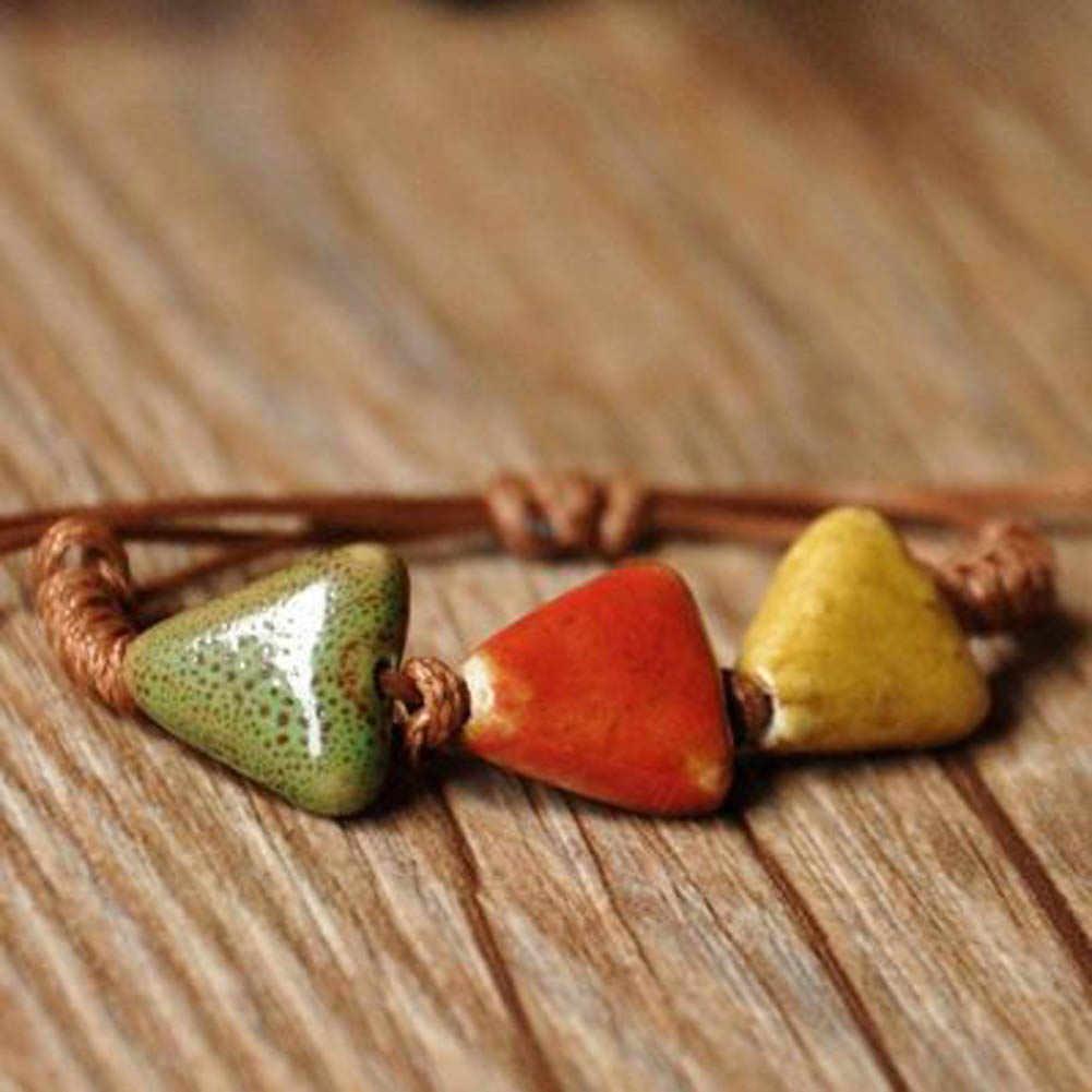 يدويا خمر الخرز سوار النسيج بوهيميا السيراميك سحر المرأة أساور جديد وصول مميزة مجوهرات شحن مجاني