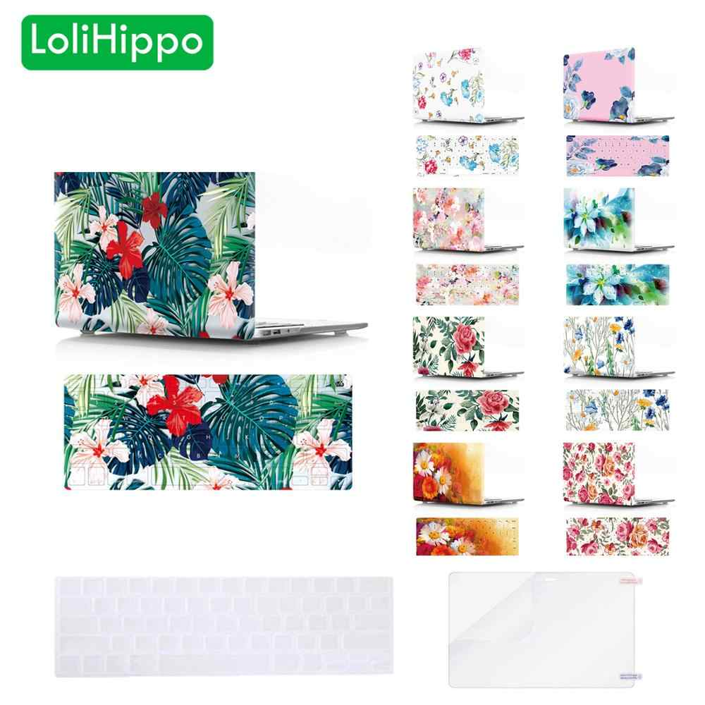 LoliHippo Lovely Flower Notebook Replace funda protectora para ordenador portátil para Macbook Air Pro 11 12 13 15 pulgadas A1534 A1369 a1502
