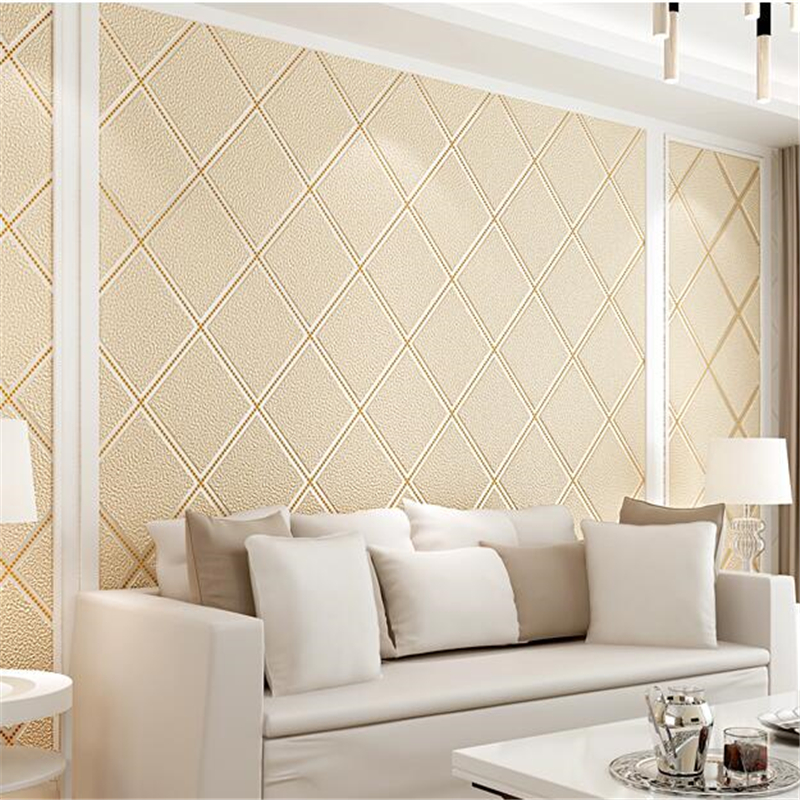 beibehang Modern deerskin cashmere non-woven wallpaper bedroom 3D European style wallpaper living room TV background wall paper beibehang new children room wallpaper cartoon non woven striped wallpaper basketball football boy bedroom background wall paper
