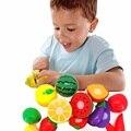 Crianças de corte de corte de frutas legumes pretend play toy educacional brinquedo frutas brinquedo desenvolvimento precoce e educação