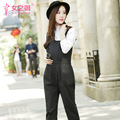 2016 spring and autumn maternity new solid thin overalls loose personality suspenders trousers leisure pants