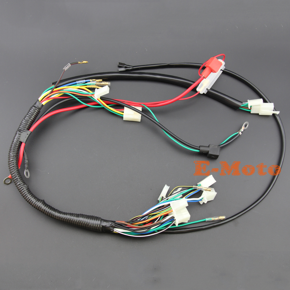 popular atv wiring harness buy cheap atv wiring harness lots from wire loom wiring harness wireloom 50cc 70cc 110cc 125cc atv quad bike buggy go kart