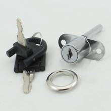 Wholesaler 19mm Brand New Silver Zinc Alloy Desk Lock with 2pcs keys Perfect For Computer desk &Book Case CP429