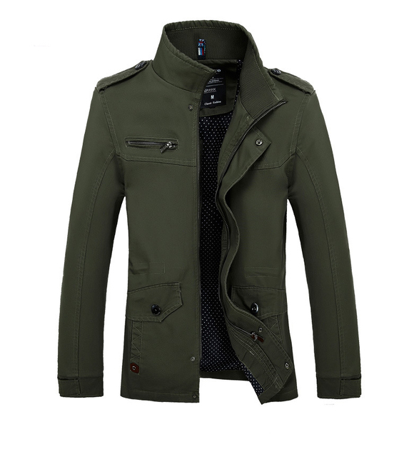 7d5f26c5523d 2018 New Men Jacket Coat Fashion Cotton Brand Clothing Bomber Jacket Coat  Military Windbreaker Male Jaqueta Masculino Size 4XL