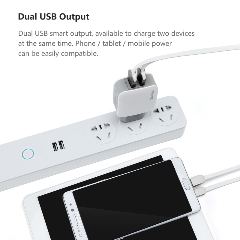 Baseus Dual USB Charger For iPhone Samsung Travel 2 4A Wall USB Charger Adapter Mobile Phone Charger For Smartphoner US EU Plug in Mobile Phone Chargers from Cellphones Telecommunications
