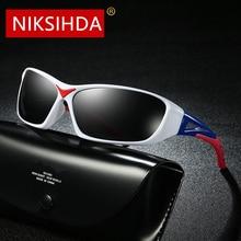NIKSIHDA  2019 New Popular Sports Polarized Sunglasses Fashion Colored Glasses Mens UV400