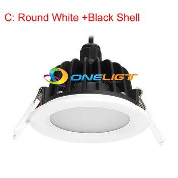 Free Shipping 4pcs Waterproof LED Downlight 8W 10W LED Down Lights Dimmable AC110V 120V 130V 220V 230V 240V IP65 For Bathroom