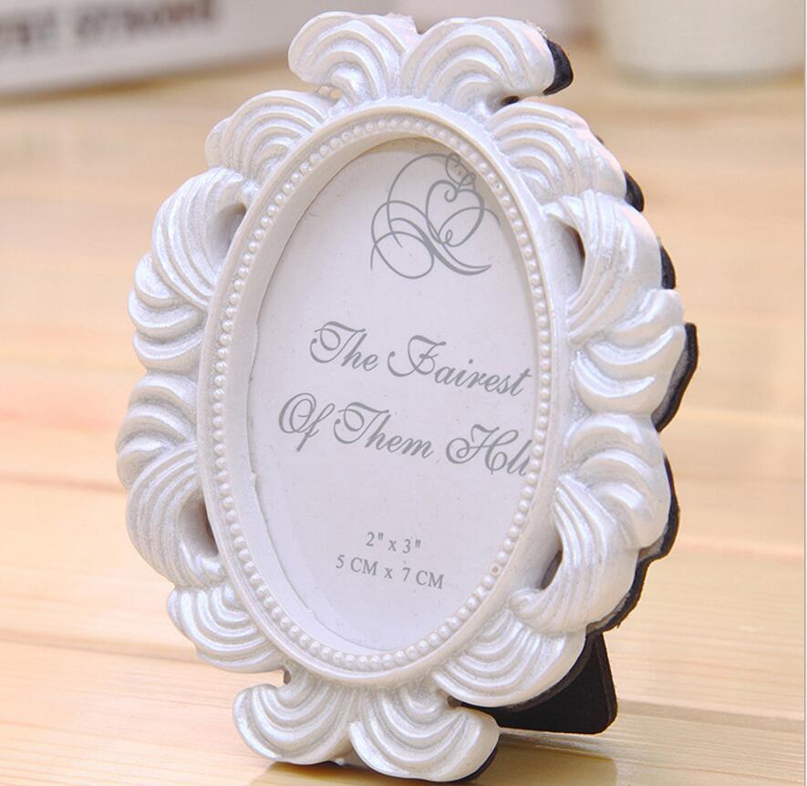 10 unids retro mano mini grabado Oval de la foto Marcos para la boda ...