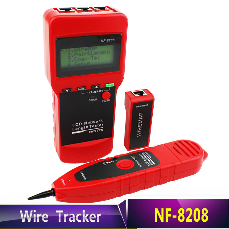 NF-8208 Detector Inspection Cat5e Cat6e RJ45 Wire Tracker Diagnose Tone Tracer Ethernet LAN Network Cable Tester