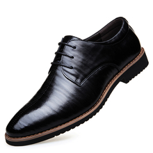 2019 Black Lace Up Men Genuine Split Leather Men Wedding Brogue Formal Dress Shoes Party Office Brown Oxford Shoes DA0114 northmarch italian lace up men genuine leather men wedding brogue formal dress business party office black oxford shoes scarpe