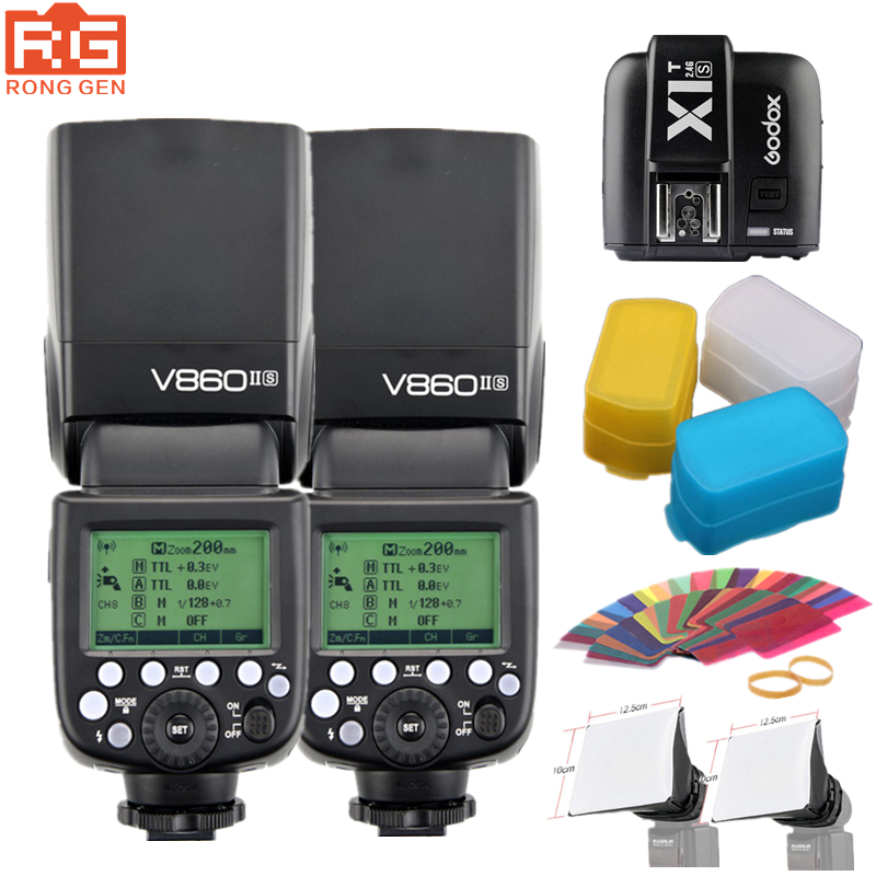 <font><b>Godox</b></font> v860iis 2.4 г Беспроводной GN60 HSS 1/8000 s TTL Вспышка Speedlite + x1t-s триггера для Sony DSLR a7ii a7rii A58 a6000 a6300 Камера