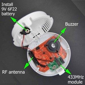 Image 5 - 2262 code 433MHz Wireless smoke detector for home burglar alarm system sensor alarm