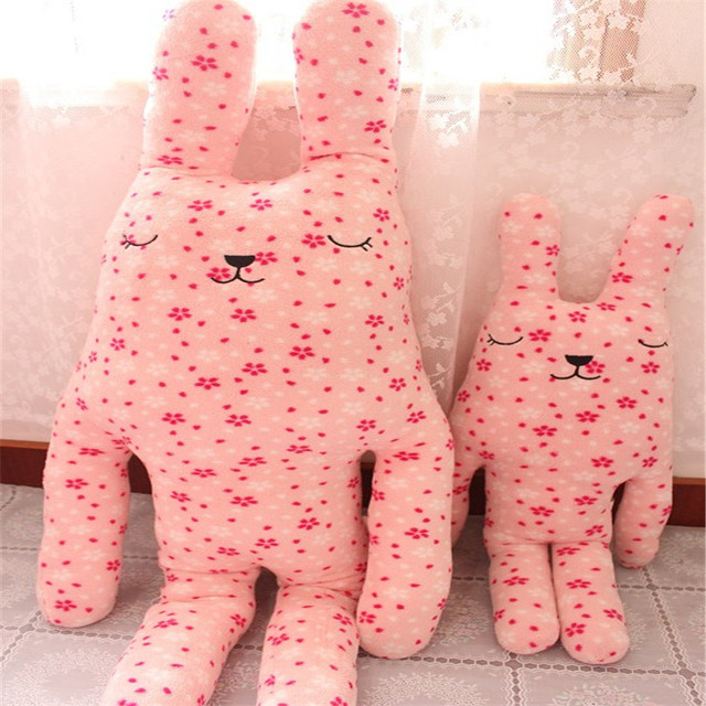 High Quality creative gift 65cm 100CM Japan CRAFTHOLIC colourful rabbit plush toy doll Christmas Girl Gift