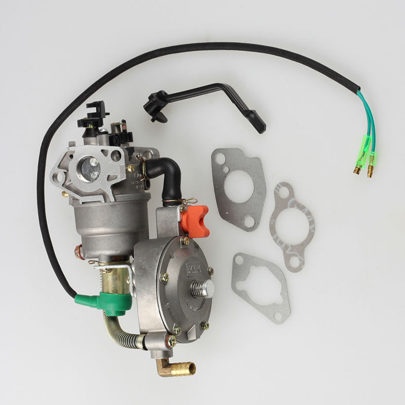ФОТО Dual Fuel Generator carburetor with Gasket For Honda GX240 7.9HP Engine Generator LPG NG CNG Conversion
