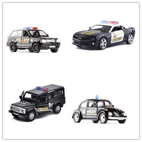 1:36 Scale RMZ City Classical Police Toy Car Racing Car SUV Diecast Metal Car Alloy Pull Back Model Toy Cars Kid Gift Collection